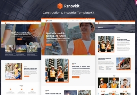 Renovkit - Construction and Industrial Template  WP